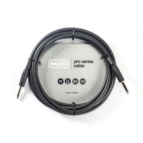 MXR PRO SERIES DCIX10 10 FOOT INSTRUMENT CABLE STRAIGHT-STRAIGHT JACK GUITAR LEAD
