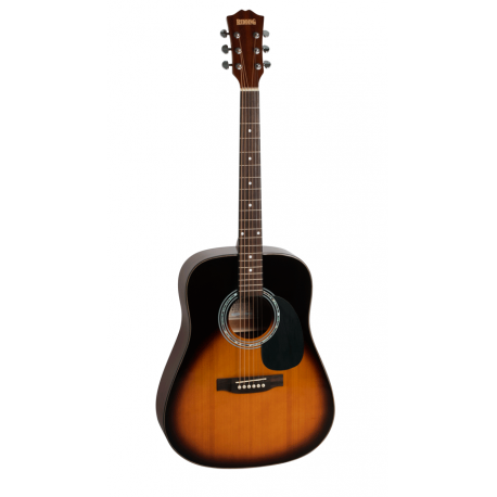 REDDING RED64TS DREADNOUGHT ACOUSTIC GUITAR TOBACCO SUNBURST FREE ONLINE LESSONS