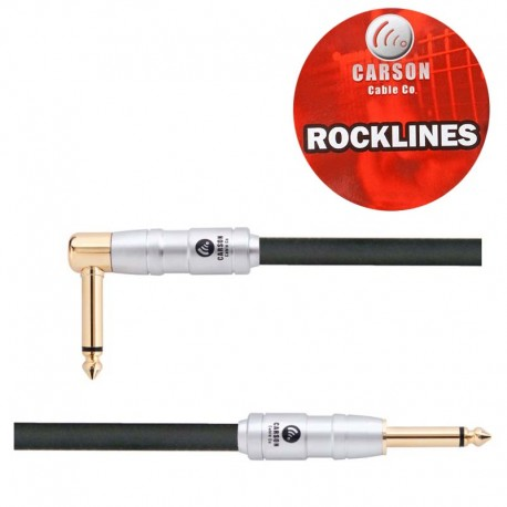 CARSON ROK10SL ROCKLINES 10FT/3M INSTRUMENT CABLE HEAVY DUTY PLUGS GOLD SHAFTS