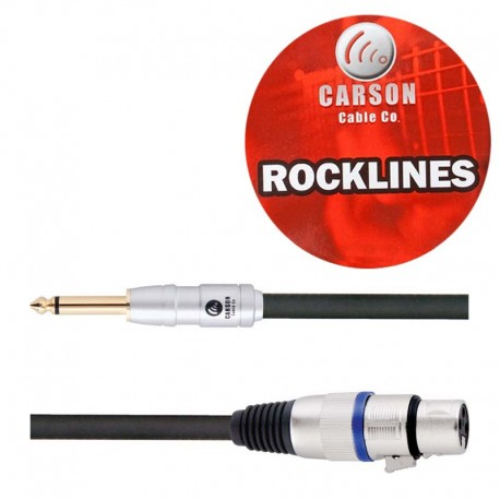 CARSON ROM20H ROCKLINES 20FT/6M MIC/AUDIO CABLE XLR (F) TO JACK PLUG (M)