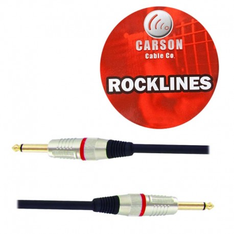 CARSON RSH20 ROCKLINES 20FT/6M SPEAKER CABLE. HEAVY DUTY PLUGS WITH GOLD SHAFTS