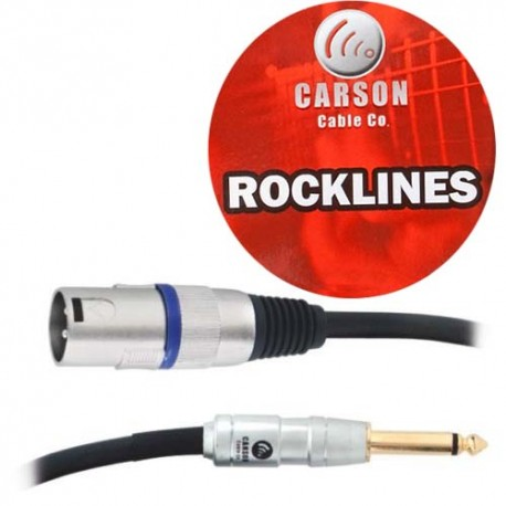 CARSON RAD32 ROCKLINES 3FT/1M MIC/AUDIO CABLE MONO JACK PLUG (M) TO XLR (M)