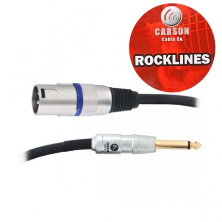 CARSON ROM20A ROCKLINES 20FT/6M MIC/AUDIO CABLE MONO JACK (M) TO XLR (M)