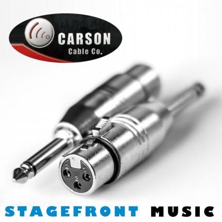 CARSON ADAPTOR 3923 6.3mm MONO JACK PLUG (M) TO XLR (F)