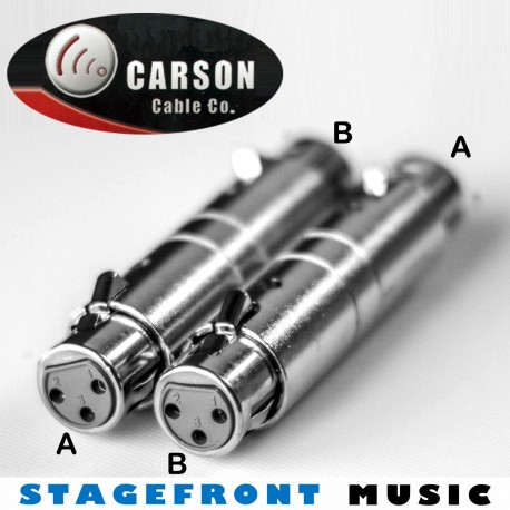 CARSON ADAPTOR 3921 XLR (F) to XLR (F) COUPLER