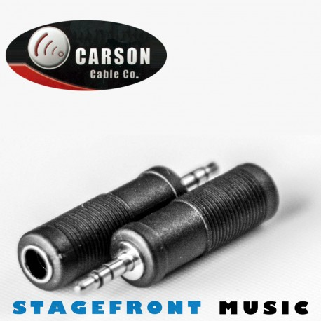 ADAPTORS 3714 3.5mm STEREO JACK PLUG (M) TO 6.3mm STEREO (F).