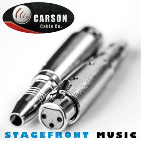 CARSON ADAPTOR 3942 XLR (F) TO 6.3mm MONO SOCKET (F)