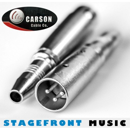 CARSON ADAPTOR 3943 XLR (M) TO 6.3mm MONO SOCKET (F)