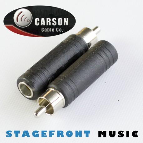 CARSON ADAPTOR (F) 6.3 MONO TO x RCA (M)