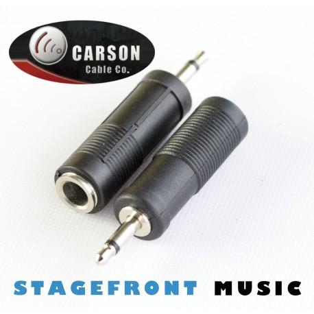 CARSON ADAPTOR MONO (F) 6.3 TO (M) JACK 3.5