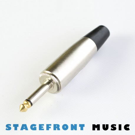 CONNECTOR JUMBO BODY JACK PLUG GOLD TIPPED 6.3mm