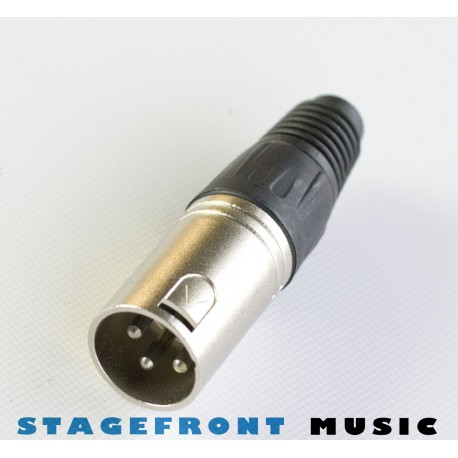 CONNECTOR NICKEL XLR MALE 3 PIN