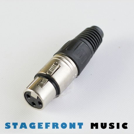 CONNECTOR NICKEL XLR FEMALE 3 PIN SOCKET