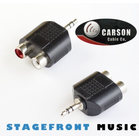 CARSON ADAPTOR 3955 - (M) 3.5 STEREO TO 2 x RCA (F)