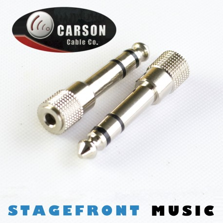 CARSON ADAPTOR AT-115 3.5mm STEREO SOCKET TO 6.3mm STEREO PLUG