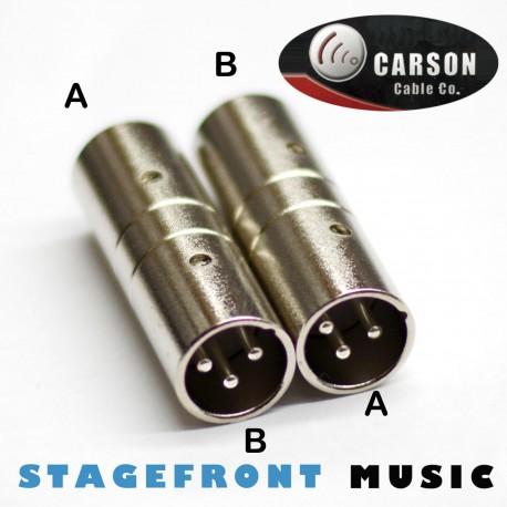 CARSON ADAPTOR XLR (M) TO XLR (M)