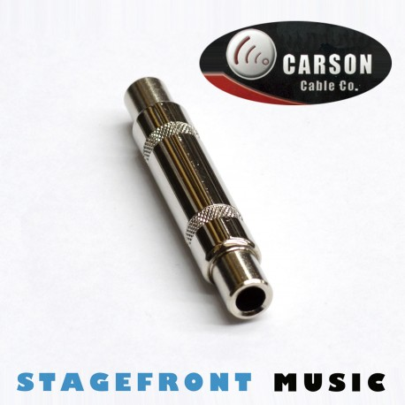 CARSON LEAD COUPLER /EXTENSION ADAPTOR 6.3 STEREO (F) TO (F). CHROME