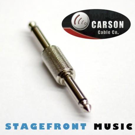 CARSON LEAD COUPLER /EXTENSION ADAPTOR 6.3 MONO (M) TO (M). CHROME