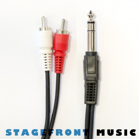 Y-CABLE 1 x 6.3 STEREO (M) - 2 x RCA (M) 3mt
