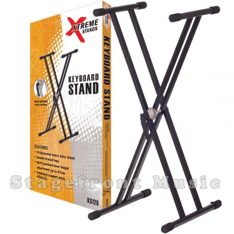 KEYBOARD STAND HEAVY DUTY DOUBLE BRACED ADJUSTABLE HEIGHT