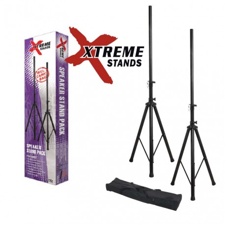 XTREME SS252 LIGHTWEIGHT STEEL SPEAKER STAND PACK WITH NYLON CARRY BAG. 50KG CAPACITY