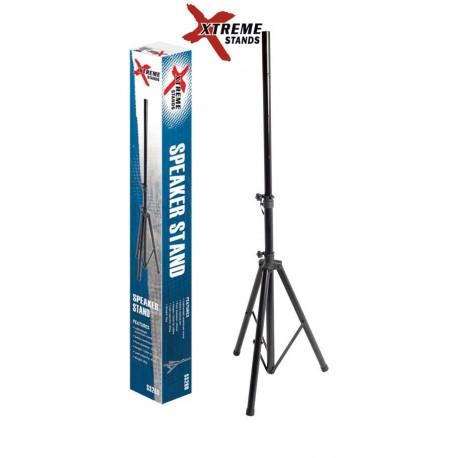 XTREME SS260 LIGHTWEIGHT ALUMINIUM SPEAKER STAND BLACK TRIPOD BASE 40KG CAPACITY