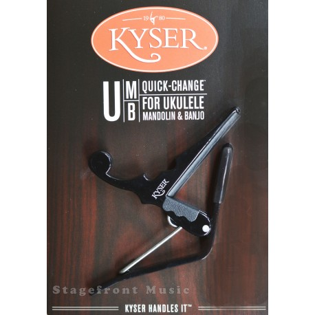 KYSER KBMBA BANJO & MANDOLIN QUICK-CHANGE BLACK CAPO - MADE IN USA