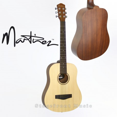 MARTINEZ BABE TRAVELLER ACOUSTIC/ELECTRIC STEEL STRING GUITAR MZP-BT1S-NST