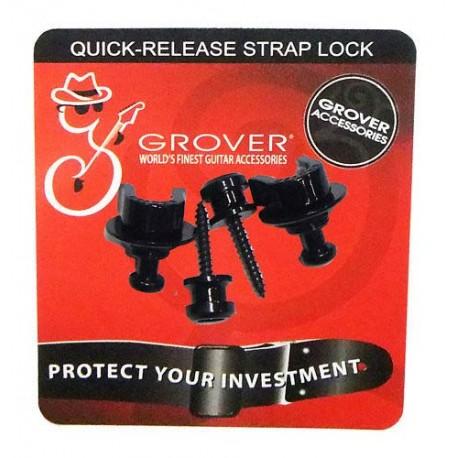 Grover Straplock. Quick-release Strap lock GP800B- black
