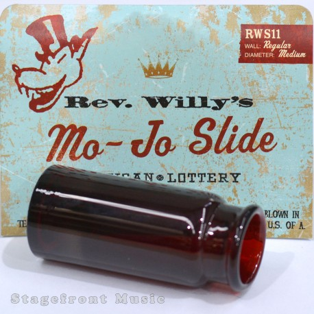 REV. WILLY'S MO-JO RED PYREX GLASS GUITAR SLIDE