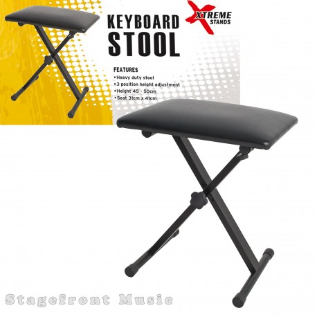 XTREME KEYBOARD STOOL /BENCH. HEAVY DUTY. 3 POSITION HEIGHT ADJUSTABLE