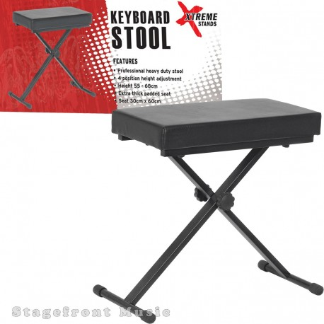 PROFESSIONAL KEYBOARD STOOL /BENCH HEAVY DUTY. 4 POSITION HEIGHT ADJUSTABLE KT140