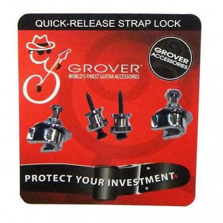 Grover Straplock. Quick-release Strap Lock GP800C- chrome