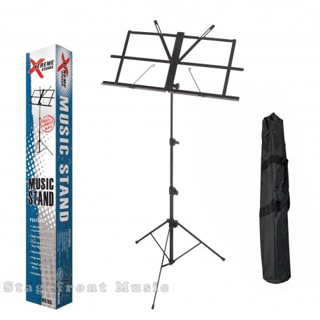 SPECTRUM BLACK PLATED MUSIC STAND. MEDIUM FRAME. LIGHTWEIGHT, 3 SECTIONS - MS12