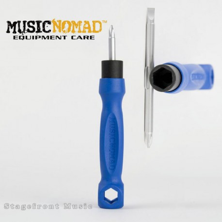 MUSIC NOMAD MN227 THE OCTOPUS 8 IN 1 TECH TOOL. SCREWDRIVERS & 5 WRENCH SIZES