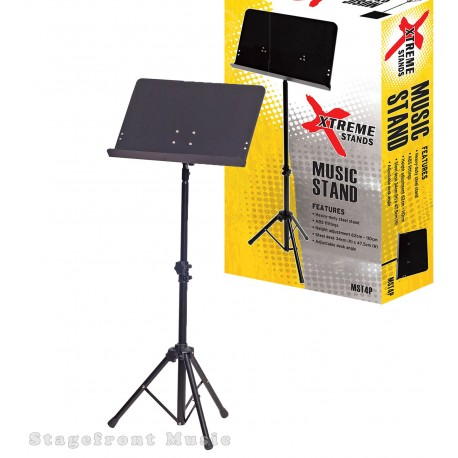 XTREME HEAVY DUTY PRO MUSIC STAND. SOLID PLATE STEEL DESK MST4P