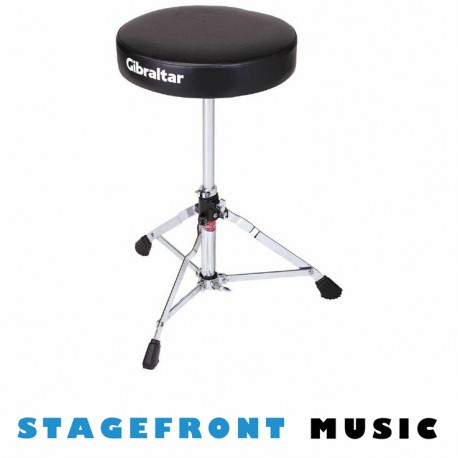 DRUM STOOL THRONE GIBRALTAR GI5608 5600 SERIES ROUND VINYL SINGLE BRACED