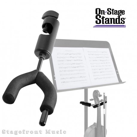 ONSTAGE VIOLIN HANGER /STAND MOUNTS TO TRIPOD MUSIC STAND VS7200