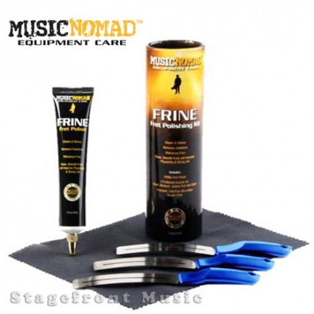 MUSIC NOMAD FRINE FRET POLISHING KIT INCLUDES FRET GUARDS, FRET POLISH & POLISH CLOTH MN124
