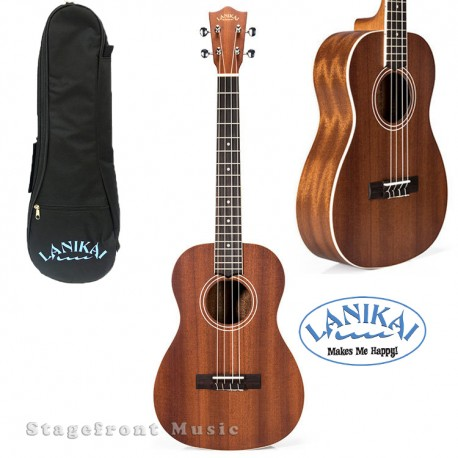 LANIKAI LMAB MAHOGANY SERIES BARITONE UKULELE IN SATIN FINISH w/LANIKAI BAG