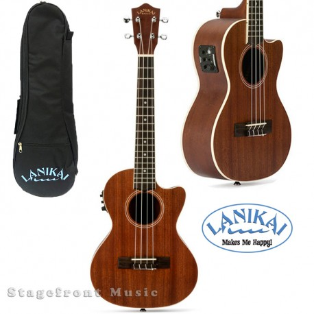 LANIKAI LU21CEK CONCERT SIZE ELECTRIC/ ACOUSTIC UKULELE WITH FISHMAN KULA PICKUP