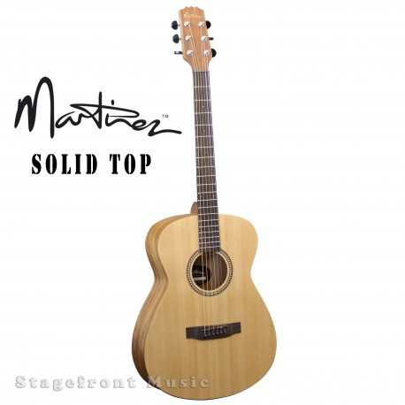 MARTINEZ MF-25S-NST SOLID SPRUCE TOP CONCERT BODY ACOUSTIC GUITAR