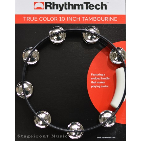 "TAMBOURINE RHYTHM TECH TRUE COLOURS 10"" TAMBOURINE. 16 PAIRS JINGLES - RT411"