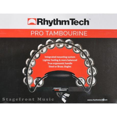 RHYTHM TECH PRO TAMBOURINE ERGONOMIC HANDLE. 15 PAIRS JINGLES - RTRP010