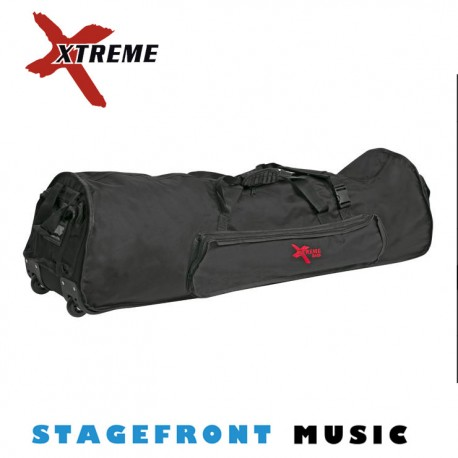 "XTREME 48"" HEAVY DUTY DRUM HARDWARE BAG WITH WHEELS & SKID RAILS – DA586W"
