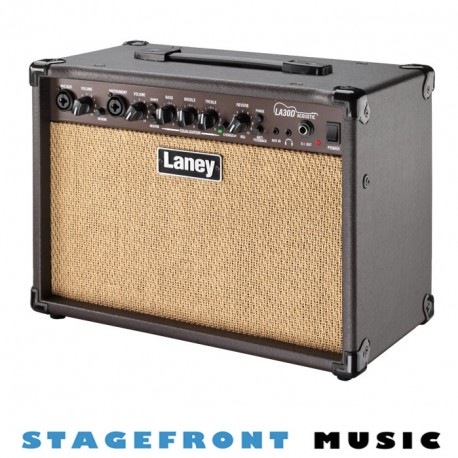 "LANEY LX SERIES LA30D 30 WATT ACOUSTIC GUITAR AMPLIFIER 2 x 6.5"" CUSTOM SPEAKERS"