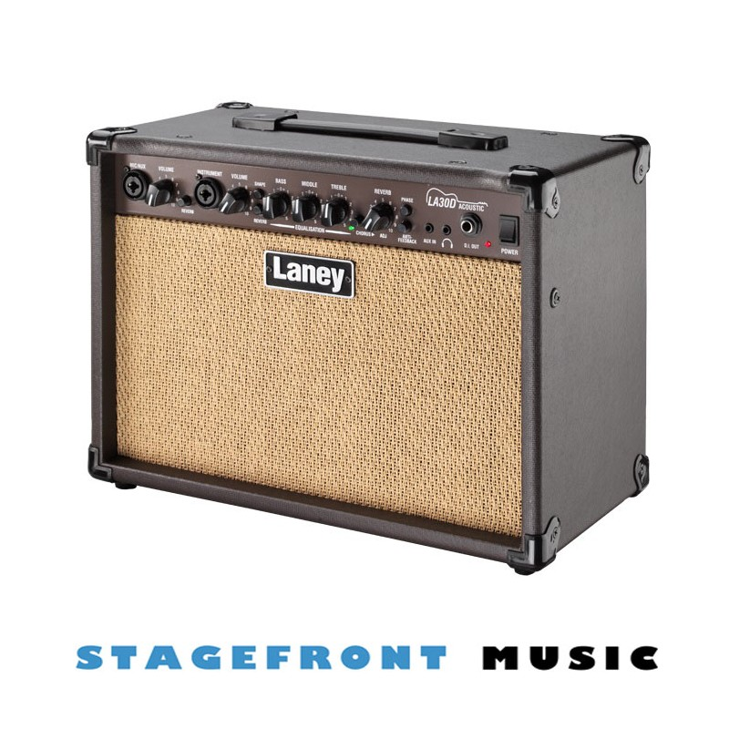 laney la series la30d 30 watt acoustic guitar amplifier 2 x 6 5 custom speakers. Black Bedroom Furniture Sets. Home Design Ideas