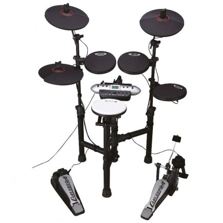 CARLSBRO CSD130BK 5 PIECE ELECTRONIC DRUM KIT WITH LCD DISPLAY
