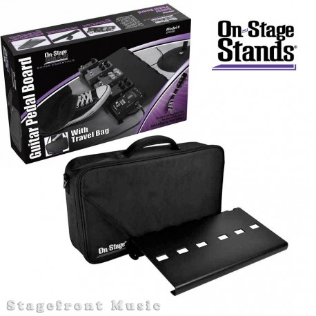 ONSTAGE LARGE PEDAL BOARD ROAD CASE /BAG FITS UP TO 10 STANDARD SIZE PEDALS