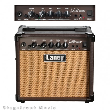 "LANEY LA SERIES LA15C 15 WATT ACOUSTIC GUITAR AMPLIFIER 2 x 5"" CUSTOM SPEAKERS"